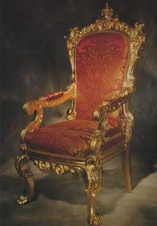 A Victorian State Chair; Circa 1845. With Only The Faintest Traces Of The  Original Gilding Still In Place, This State Chair Was Entirely Re Gilded  And ...